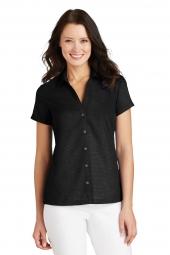 Ladies Textured Camp Shirt