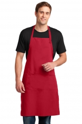 Easy Care Extra Long Bib Apron with Stain Release