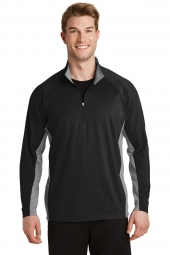 Sport-Wick Stretch Contrast 1/2-Zip Pullover